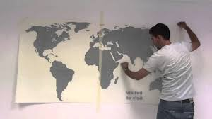 Ikea World Map Canvas by World Map With Pins Sticker How To Apply Youtube