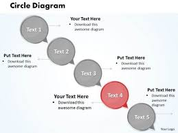 ppt circular arrow network diagram powerpoint template of 5 steps