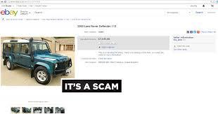 2000 land rover defender ebay scam 2000 land rover defender 110 w671ujh fraud w671