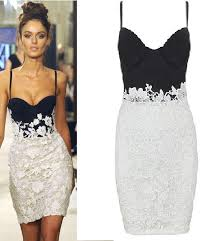 black white floral lace bralet midi bandage dress size 6 8