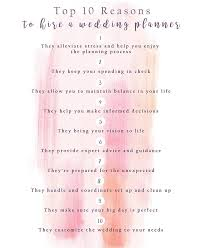 top wedding planners top 10 reasons you should hire a wedding planner s