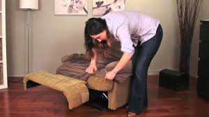 double recliner sofa slipcover how to install a recliner slipcover by caber sure fit inc youtube
