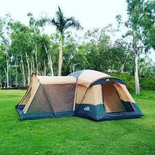 platform tent adventure