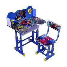 kids furniture table and chairs wood and metal spiderman kids study table and chair rs 1750 set