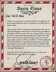 personalized letter from santa official pole mail personalized letters from santa claus