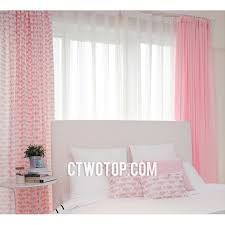 Nursery Pink Curtains Pink And White Wahle Unique Animal Nursery Curtains