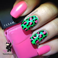 neon leopard nails the crafty ninja