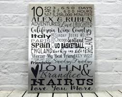 10th anniversary gift ideas 10 year anniversary etsy