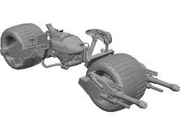 batman dark knight batpod motorcycle 3d cad model 3d cad browser