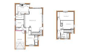 plan maison etage 3 chambres maison traditionnelle à étage 108 m 3 chambres