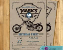 motorcycle invite etsy