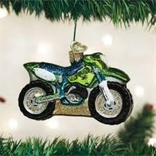 ornament motor cross bike 6corn4214 bond green