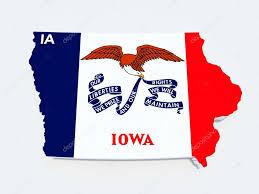 Iowa State Map Iowa State Flag On 3d Map U2014 Stock Photo Godard 14616525