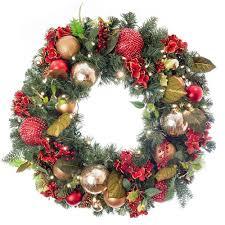 scarlet hydrangea decorated wreath world