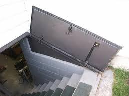 basement bulkhead door plans installing basement hatch door