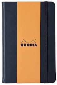 rhodia 118369c web notebook elfenbein a4 liniert 90 g schwarz