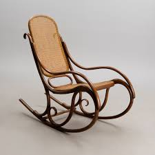 Bent Wood Rocking Chair A Bentwood Rocking Chair By Fischel Early 20th Century Bukowskis