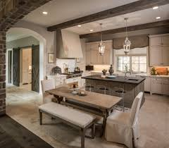 Kitchen Island With Built In Seating Limestone Countertops Kitchen Island With Bench Seating Lighting