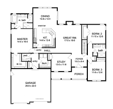 ranch style house plan 3 beds 2 5 baths 2272 sq ft plan 1010 84