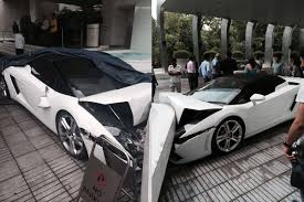 crashed lamborghini for sale lamborghini gallardo spyder crashed in new delhi by hotel valet