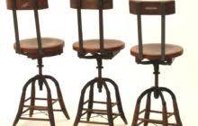 Swivel Bar Stool With Back Black Polished Wrought Iron Swivel Bar Stool With Lacquered Walnut