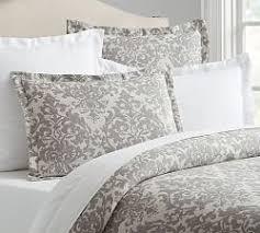 Grey Comforters Queen Gray Bedding Pottery Barn