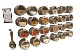 Stainless Steel Wall Spice Rack 24 Tin Magnetic Spice Rack 30 Labels Spoons Stainless Steel