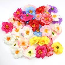 20pcs 6cm silk plum artificial flower heads for diy wedding
