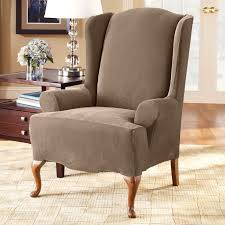 Wing Chair Slipcovers Sure Fit Slipcovers Form Fit Stretch Pique 1 Piece Wing Chair