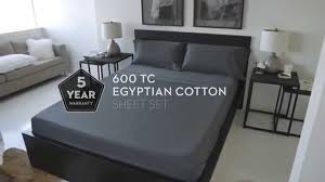 600 tc egyptian cotton sheets by malouf youtube