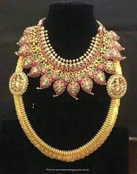 bridal jewelry necklace set images Gold bridal jewellery set from anagha jewellery south india jewels jpg