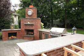 Pizza Oven Outdoor Fireplace by Outdoor Kitchen With Fireplace Plans Outdoor Kitchen With