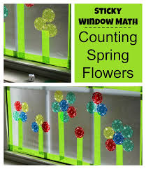 sticky window math games counting u0026 adding flowers where