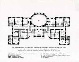 Chateau House Plans Chateau De Vaux Le Vicomte First Floor Plan Architectural
