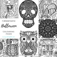spooktastic halloween coloring collection arty crafty kids