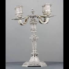 candelieri in argento christofle coppia di candelieri in argento modello duperier