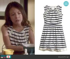 wornontv lily u0027s striped dress on modern family aubrey anderson