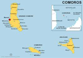 map comoros free comoros political map political map of comoros political