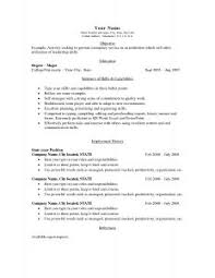Basic Template For Resume Resume Outline Pdf Thebridgesummit Co
