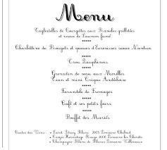 prã sentation menu mariage menu et plan de table aurélie et jérémie 05 07 08