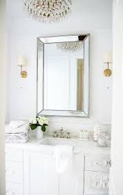 mixing metals in bathroom glam transitional guest bathroom reveal with marble silver and brass