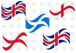 set of british england and scotland flags vector image 64973