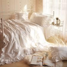 Ruffle Duvet Cover King White Lace King Size Duvet Cover Sweetgalas