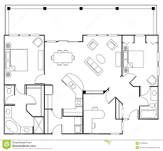 floorplan stock illustration image home dining doors 23466055