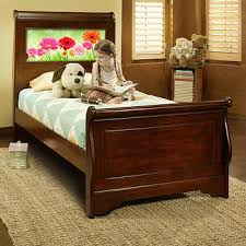 Cherry Sleigh Bed Beds Costco