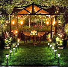 Backyard Landscape Lighting Ideas - solar landscape lighting ideas with yard lights powered outdoor