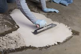 Concrete Floor Sweeping Compound by Repair Uneven Concrete With Flowtop Concrete Resurfacer