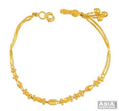 bracelet ladies gold images 22kt gold ladies bracelet asbr55029 22kt ladies gold fancy jpg