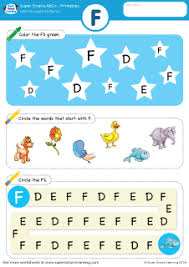 uppercase letter f alphabet worksheet from super simple learning