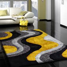 Blue Fuzzy Rug Silk Grey Yellow Carpet Floor Beautiful Spacios U0026 Chic Styles